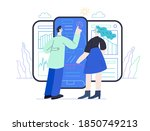 medical reports application ... | Shutterstock .eps vector #1850749213