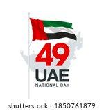 illustration banner 49 uae... | Shutterstock .eps vector #1850761879