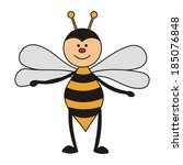 bee cartoon cute vector... | Shutterstock .eps vector #185076848