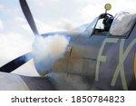 Supermarine Spitfire On Engine...