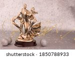 Vintage Gold Statuette Of...