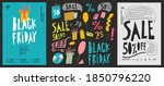 a set of vector posters. ad ... | Shutterstock .eps vector #1850796220