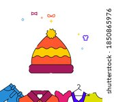 hat with pompom filled line...