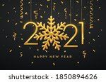 happy new 2021 year. hanging... | Shutterstock .eps vector #1850894626