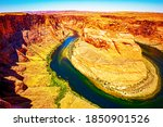 Horseshoe Bend By Grand Canyon...