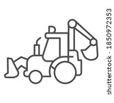 tractor with bucket thin line... | Shutterstock .eps vector #1850972353