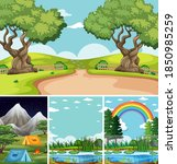 four different scenes in nature ... | Shutterstock .eps vector #1850985259