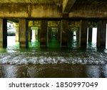 View Under The Concrete Pier...