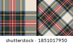 two seamless vector plaid... | Shutterstock .eps vector #1851017950