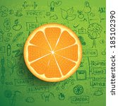 orange business and healthy...   Shutterstock .eps vector #185102390