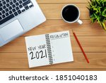 2021 happy new year resolution... | Shutterstock . vector #1851040183