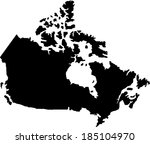 canada vector map | Shutterstock .eps vector #185104970