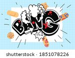 bang explosion on paper and... | Shutterstock .eps vector #1851078226