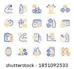 fitness time line icons. bike... | Shutterstock .eps vector #1851092533
