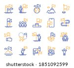 flag line icons. leadership ... | Shutterstock .eps vector #1851092599