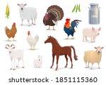 farm animals cartoon vector... | Shutterstock .eps vector #1851115360