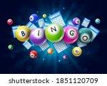 bingo lotto game balls and... | Shutterstock .eps vector #1851120709