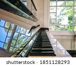 Nice Upright Piano With Natural ...