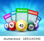 lottery balls and tickets  3d... | Shutterstock .eps vector #1851142540