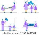 clipart. teacher individually... | Shutterstock .eps vector #1851161290