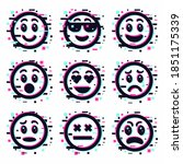 set of emoticons smile icons.... | Shutterstock .eps vector #1851175339