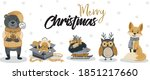 Banner With Cute Winter Animals....
