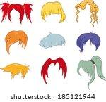 Постер, плакат: A set of hairstyles