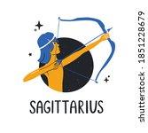 sagittarius zodiac sign. bright ...   Shutterstock .eps vector #1851228679