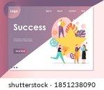 success website template  web...   Shutterstock . vector #1851238090