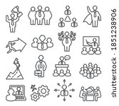 people line icons. vector set... | Shutterstock .eps vector #1851238906