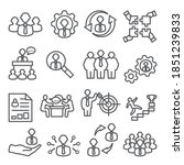 employee line icons. business... | Shutterstock .eps vector #1851239833