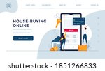 house buying online homepage... | Shutterstock .eps vector #1851266833