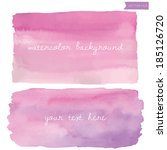 Wet Wash Watercolor Vector Background. Pink and Purple Watercolor Background.