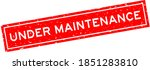 grunge red under maintenance... | Shutterstock .eps vector #1851283810