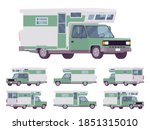 rv camper van car  recreational ... | Shutterstock .eps vector #1851315010