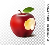 illustration realistic bitten... | Shutterstock .eps vector #1851359803