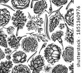 seamless pattern with black and ...   Shutterstock .eps vector #1851360976