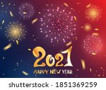 lettering happy new year 2021...   Shutterstock .eps vector #1851369259
