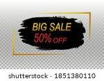 brush sale banner super sale | Shutterstock .eps vector #1851380110