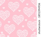 Lacy Hearts Seamless Pattern....