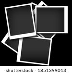 stack of black photos with... | Shutterstock . vector #1851399013