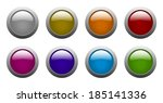 set of color rounded glass... | Shutterstock . vector #185141336