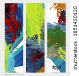abstract vector vertical banner.... | Shutterstock .eps vector #1851430120