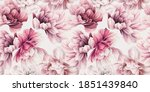 seamless floral pattern with... | Shutterstock . vector #1851439840