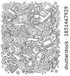 cartoon vector doodles art and... | Shutterstock .eps vector #1851467929