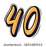 brush lettering vector number... | Shutterstock .eps vector #1851485413