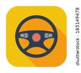 car steering wheel. single flat ... | Shutterstock .eps vector #185149478