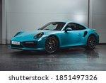 Porsche 911 Turbo S Miami Blue. ...