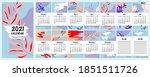 2021 wall  alendar. set of 12...   Shutterstock .eps vector #1851511726