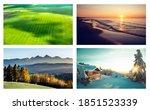 Four Seasons Collage. 4...
